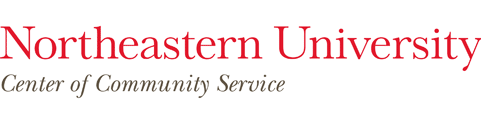 Northeastern University Center of Community Service logo
