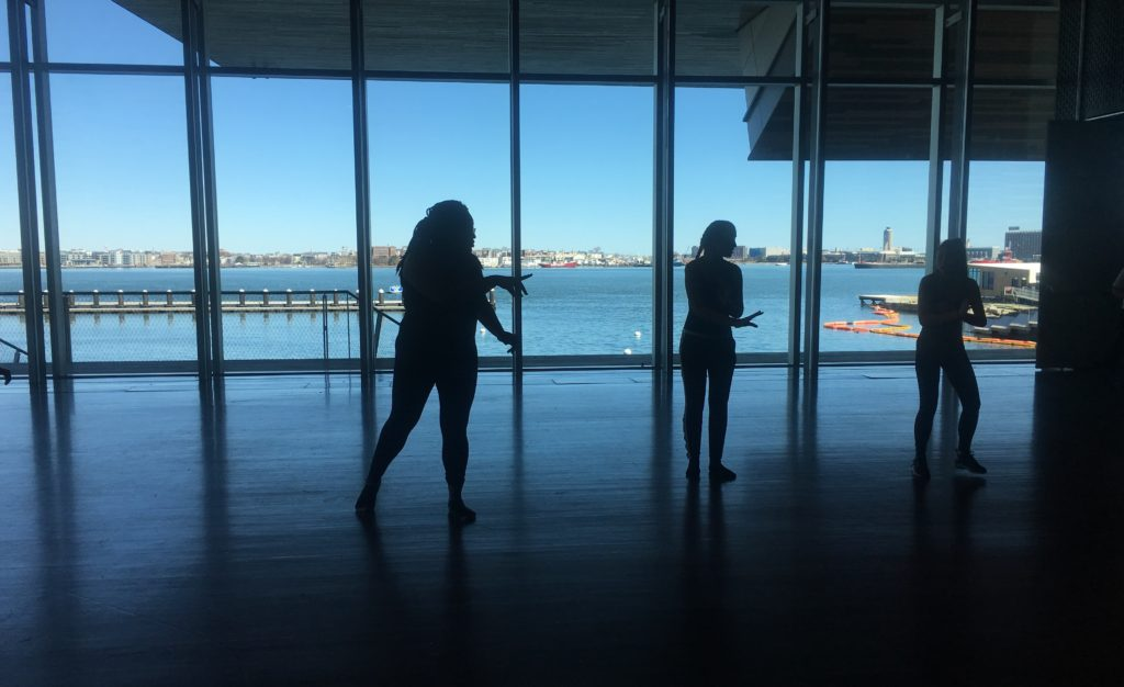 """BalletRox dancers perform at """"Play Date: Exploring Art and Technology"""" at the Institute of Contemporary Art, March 31, 2018. (Credit: Ana Bueso)"""