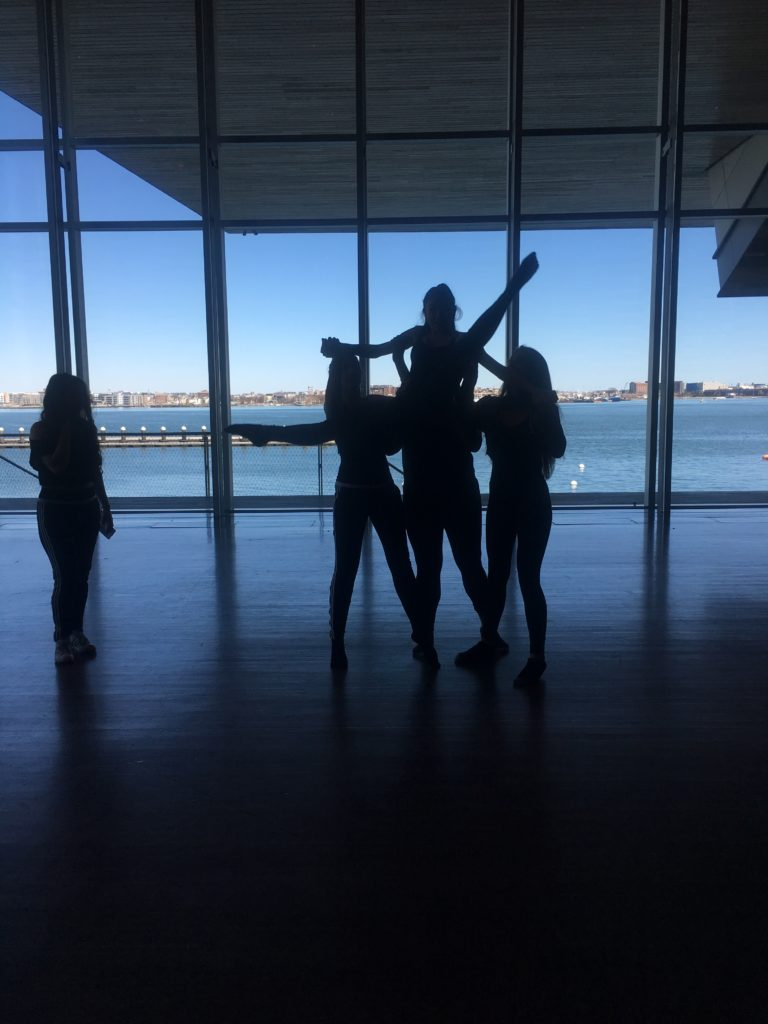 "BalletRox dancers perform at ""Play Date: Exploring Art and Technology"" at the Institute of Contemporary Art, March 31, 2018. (Credit: Ana Bueso)"