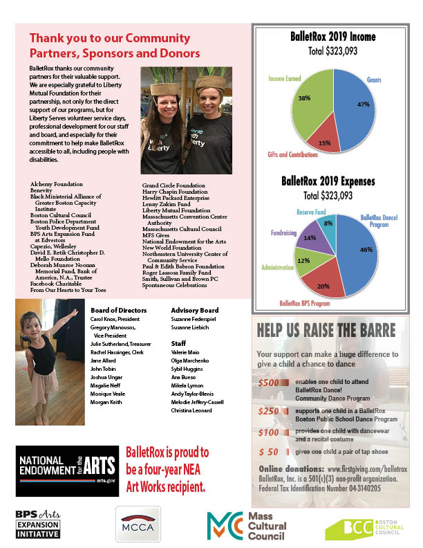 BalletRox 2019 annual report, page 4